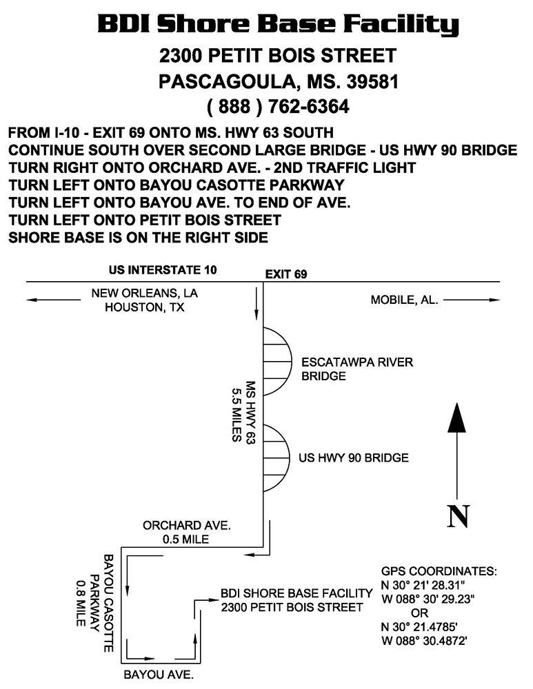 SHORE BASE MAP bdi shore base facility